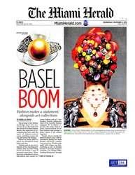 GREG LOTUS' EXHIBITION AT ART BASEL 2012 - THE MIAMI HERALD